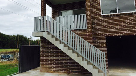 Outdoor House Stairs railing